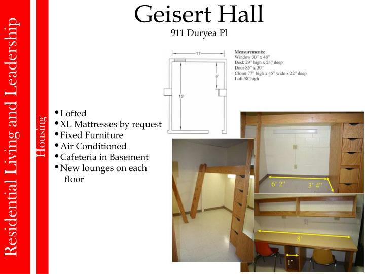 Geisert Hall