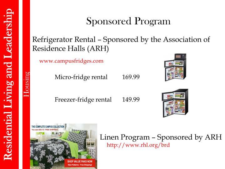 Sponsored Program