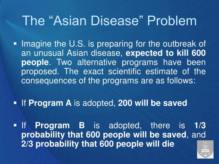 "The ""Asian Disease"" Problem"