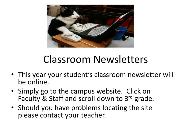 Classroom Newsletters