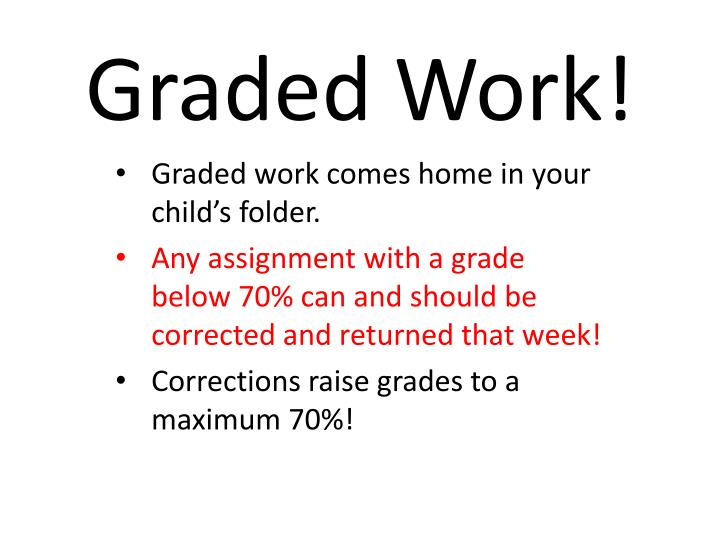 Graded Work!