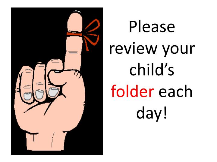 Please review your child's