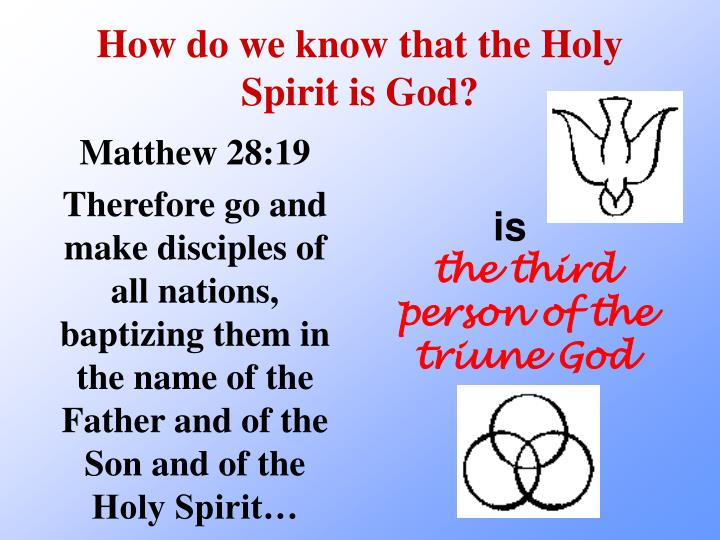 How do we know that the holy spirit is god