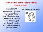 how do we know that the holy spirit is god2