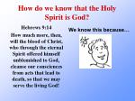 how do we know that the holy spirit is god3