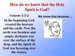 how do we know that the holy spirit is god5