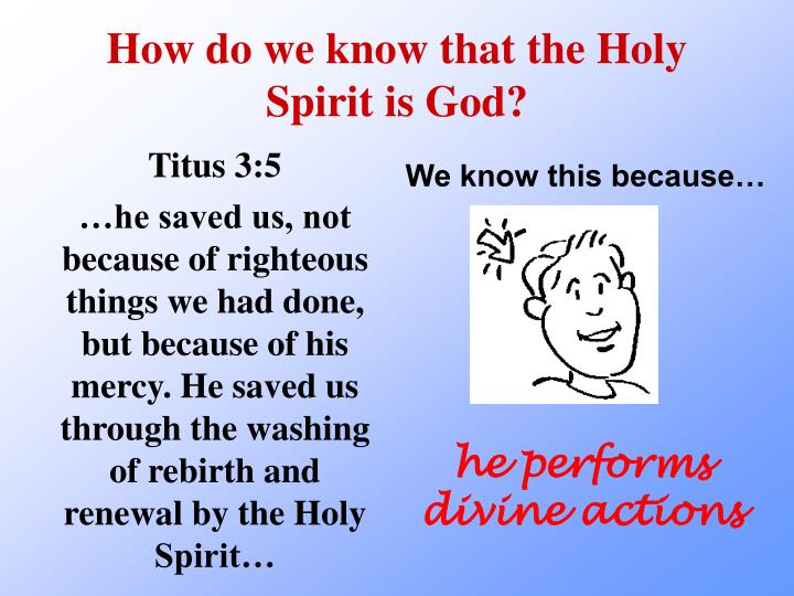 How do we know that the Holy Spirit is God?