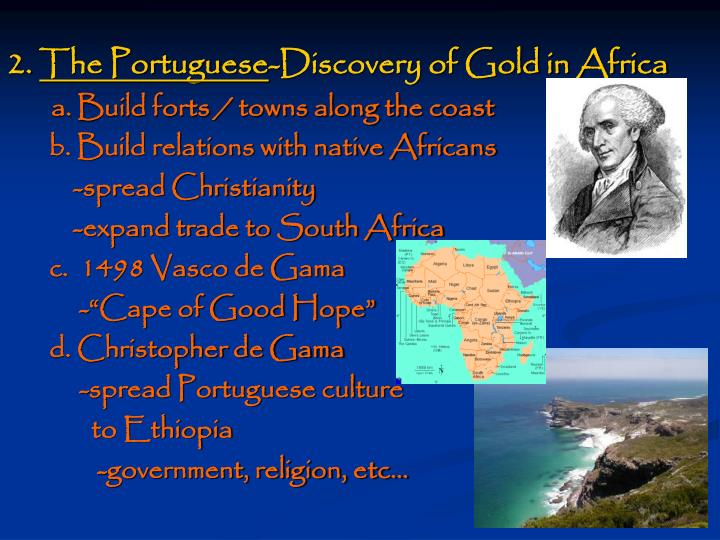 2 the portuguese discovery of gold in africa