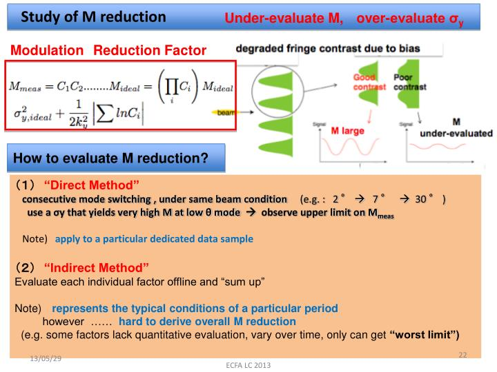 Study of M reduction