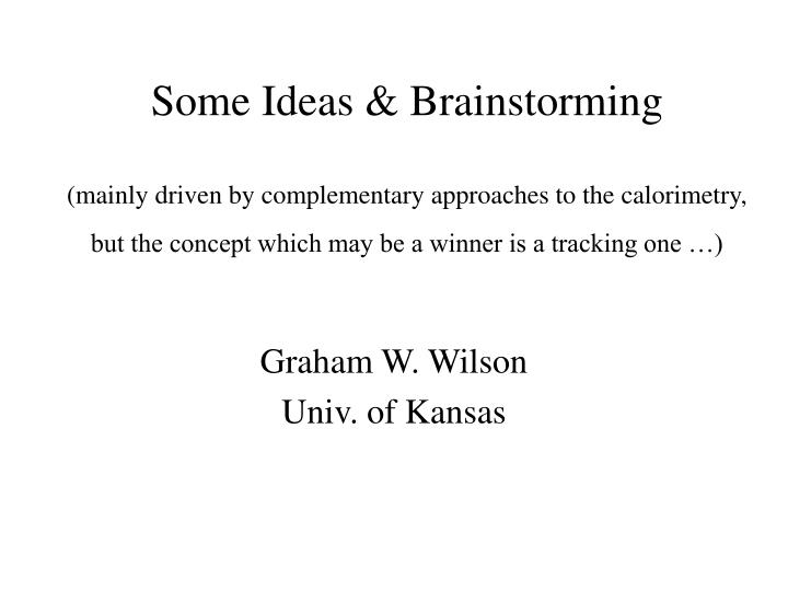 graham w wilson univ of kansas