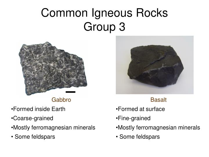 Common Igneous Rocks