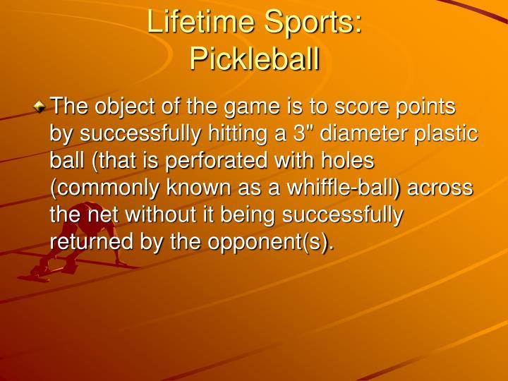 Lifetime Sports: