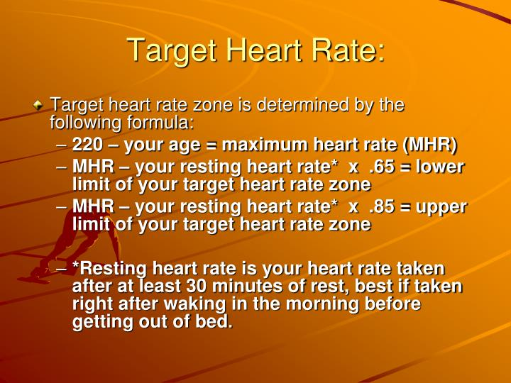 Target Heart Rate: