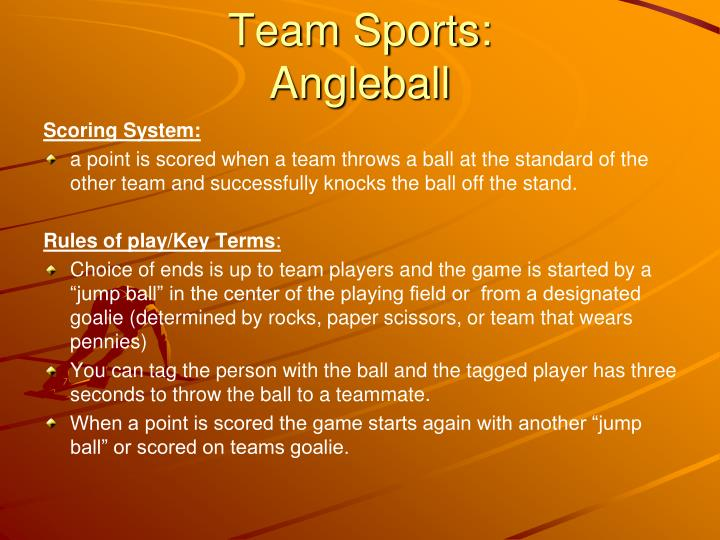 Team Sports: