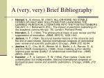 a very very brief bibliography1