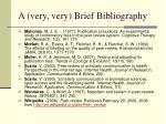 a very very brief bibliography2
