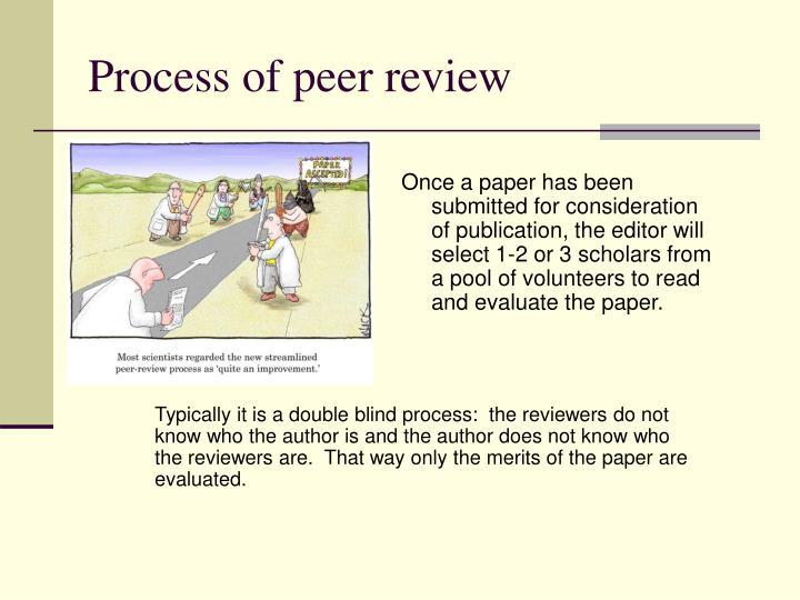 Process of peer review