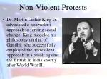 non violent protests