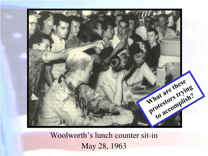 Woolworth's lunch counter sit-in