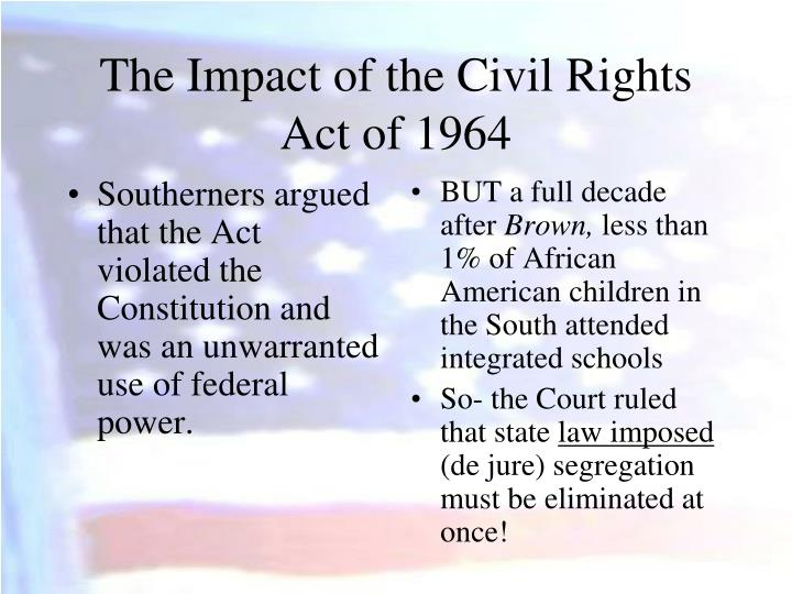 Southerners argued that the Act violated the Constitution and was an unwarranted use of federal power.