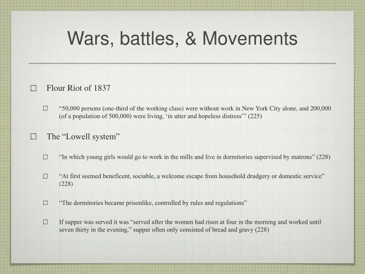 Wars, battles, & Movements