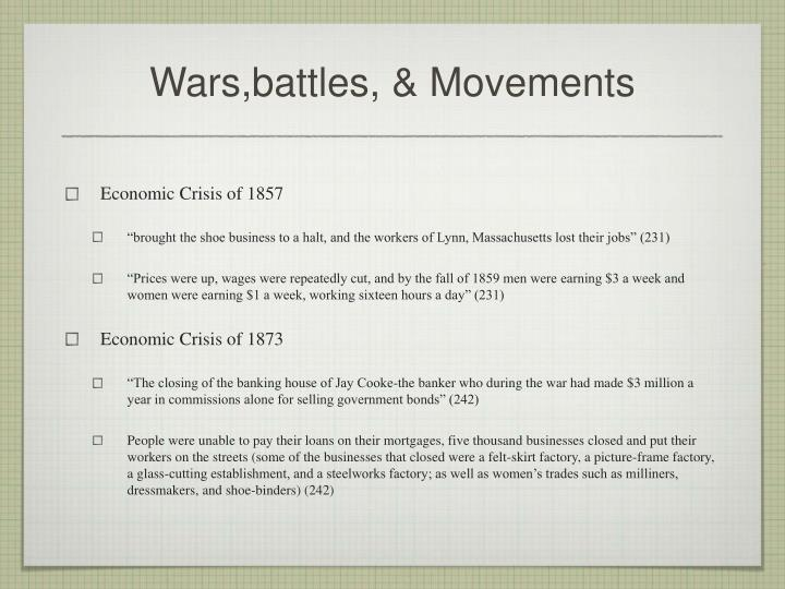 Wars,battles, & Movements