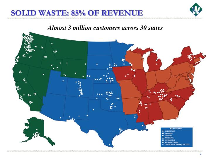 SOLID WASTE: 85% OF REVENUE