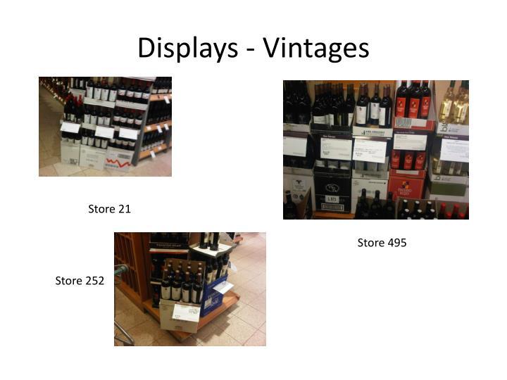 Displays - Vintages