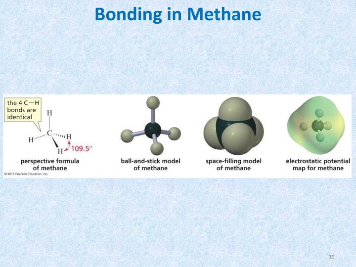 Bonding in Methane