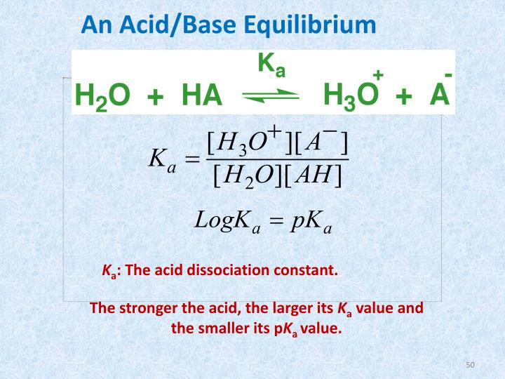 An Acid/Base Equilibrium