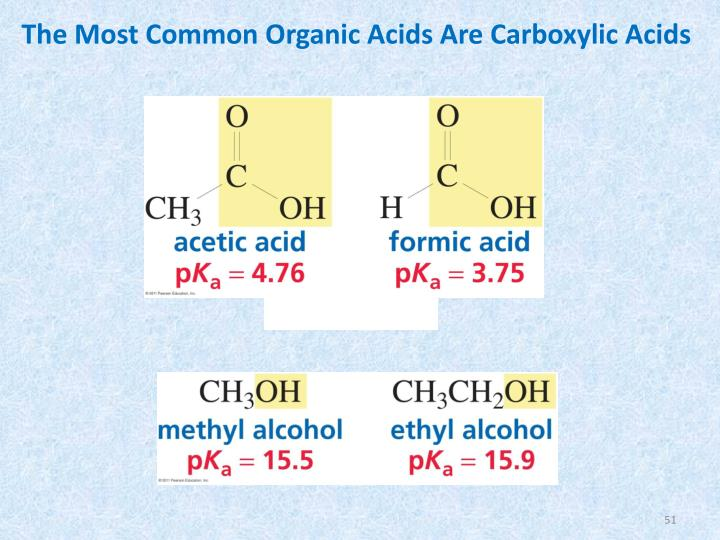 The Most Common Organic Acids Are Carboxylic Acids