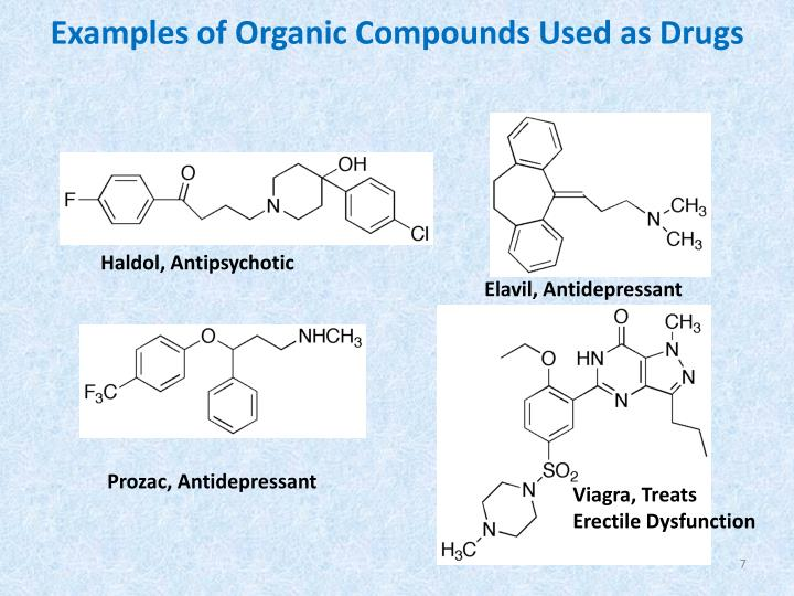 Examples of Organic Compounds Used as Drugs
