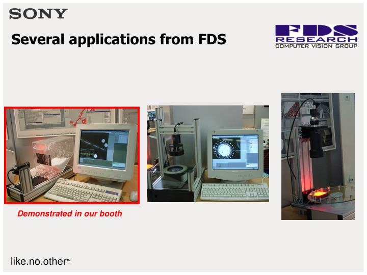 Several applications from FDS