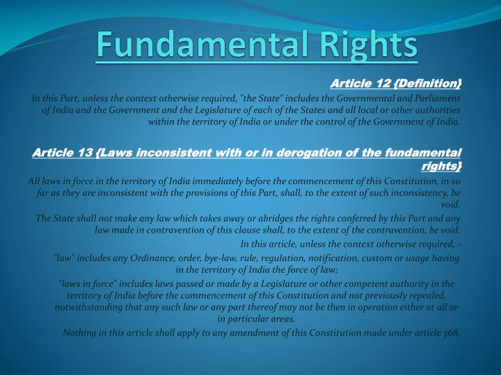 Fundamental rights1