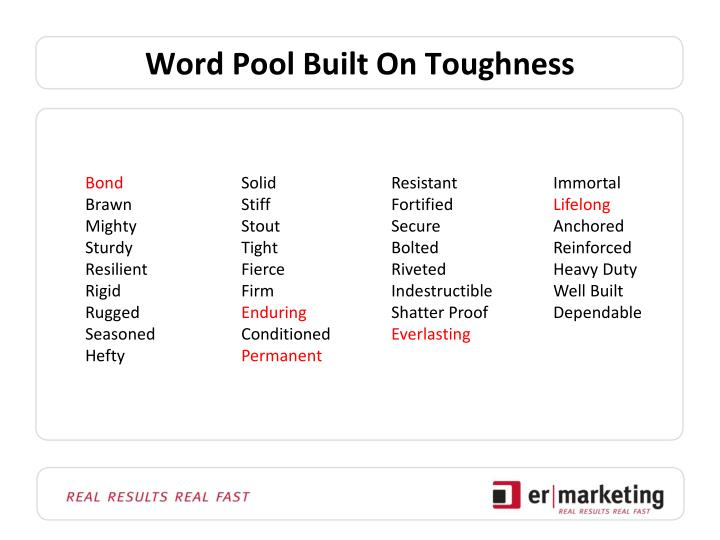 Word Pool Built On Toughness