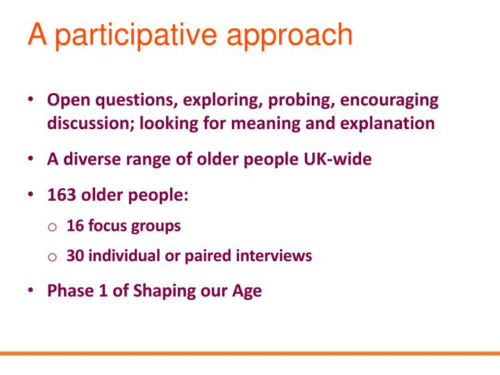 A participative approach