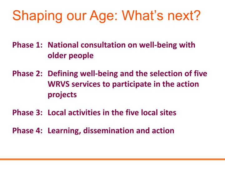 Shaping our Age: What's next?