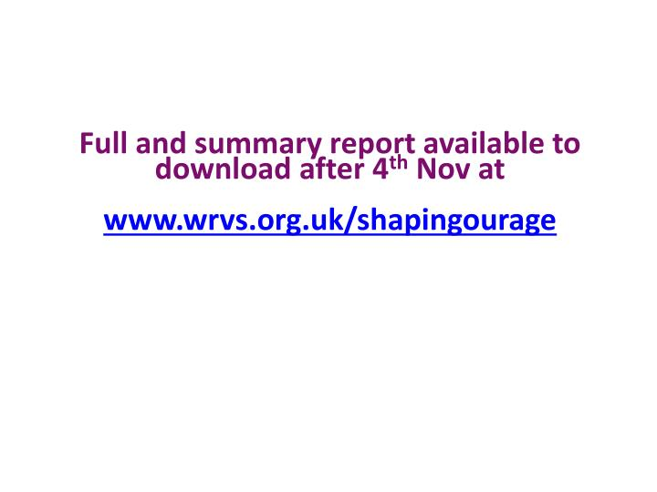 Full and summary report available to