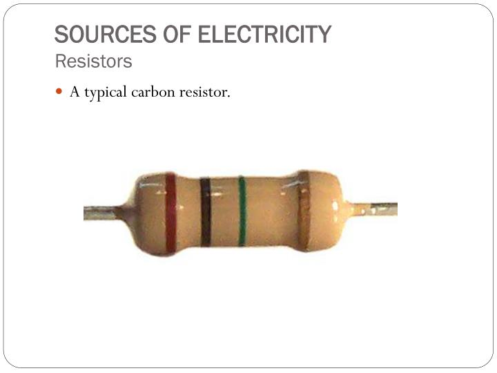 A typical carbon resistor.