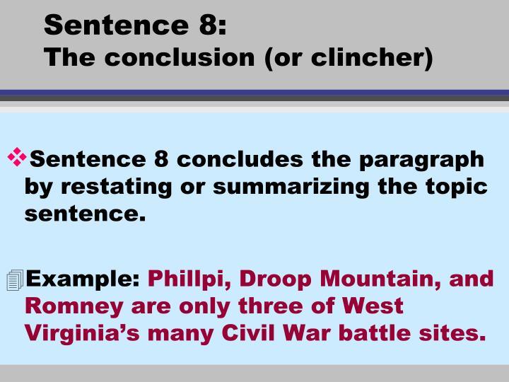 Sentence 8: