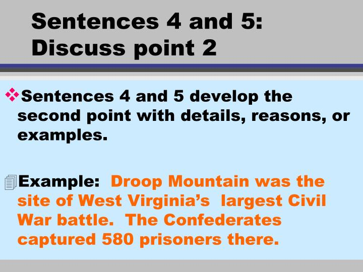 Sentences 4 and 5: