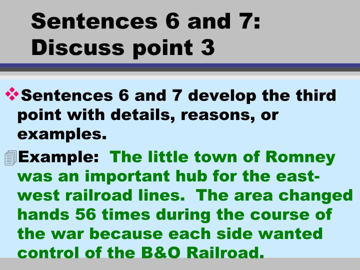 Sentences 6 and 7: