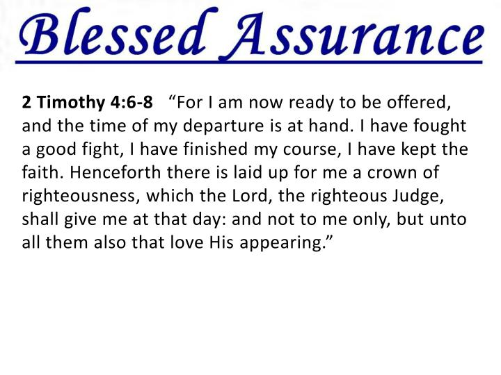 2 Timothy 4:6-8