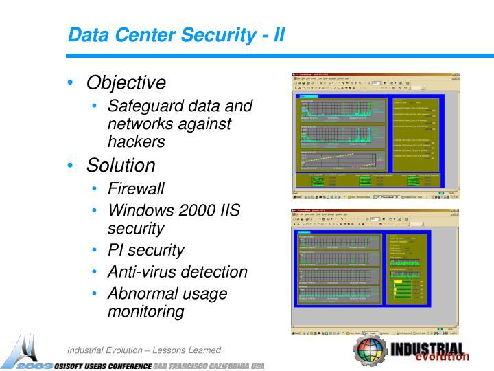 Data Center Security - II