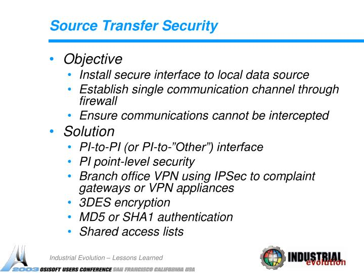 Source Transfer Security
