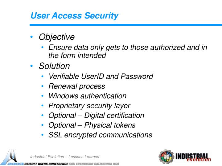 User Access Security