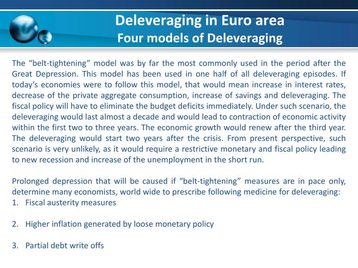 Deleveraging in Euro area