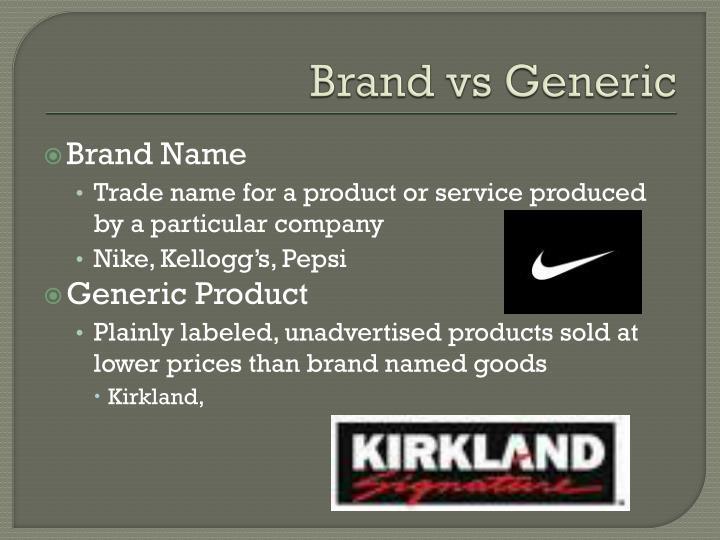 Brand vs Generic