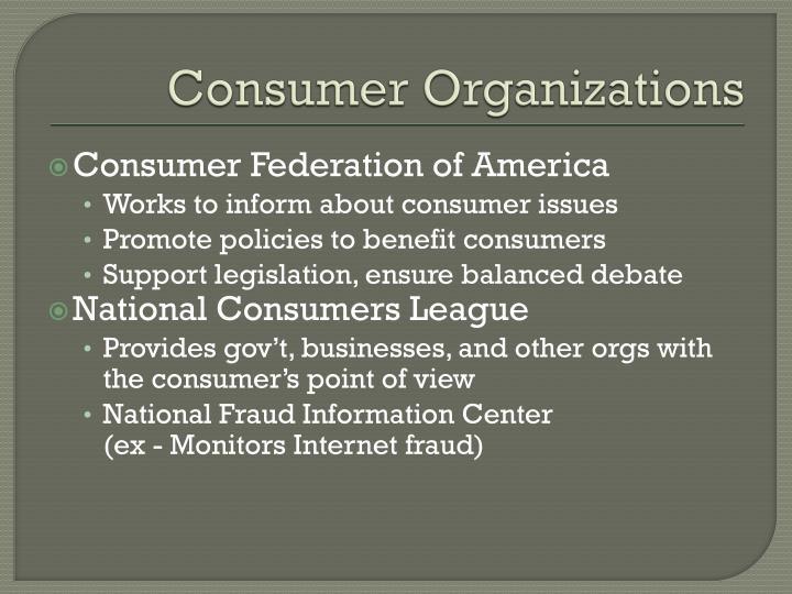 Consumer Organizations