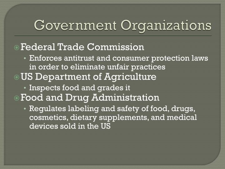 Government Organizations